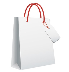 white blank shopping bag vector image vector image