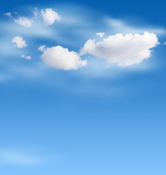 White clouds in the sky on blue vector image