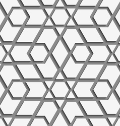 White geometrical detailed on gray seamless vector image