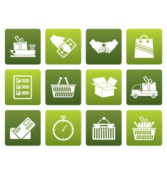Flat Shipping and logistic icons vector image