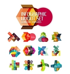 Abstract background geometric infographic option vector