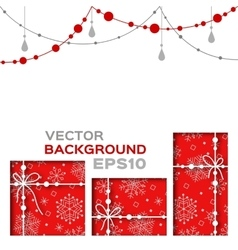 Abstract background with christmas gifts vector