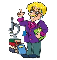 Funny scientist or inventor profesion abc series vector