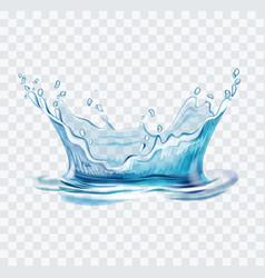 blue water splash vector image