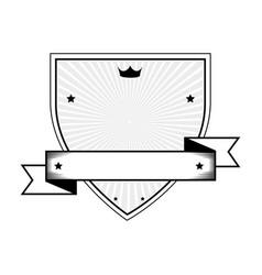 Shield with ribbon emblem vector