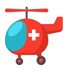 Medical air ambulance vector