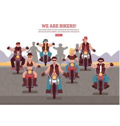 Bikers background vector