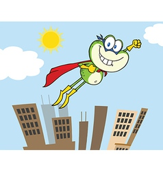 Super frog flying vector image