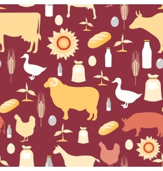 Farming seamless pattern vector
