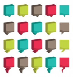 square 3d tabs vector image