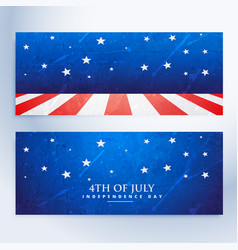 4th of july banners set vector image vector image