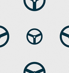 Steering wheel icon sign seamless abstract vector