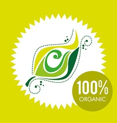 100 percent organic vector