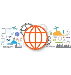 social icon internet of things vector image