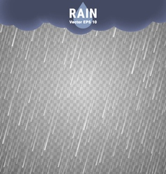 Transparent rain image cloudy background vector