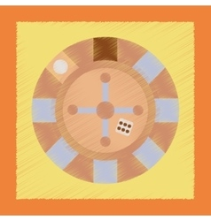 Flat shading style icon roulette casino vector