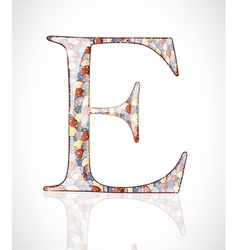 Abstract letter E vector image