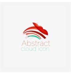 Abstract symmetric geometric shapes business icon vector image vector image