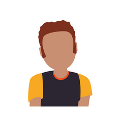 Adult male avatar young faceless vector