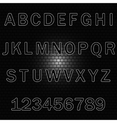 Alphabet background-brick wall vector image