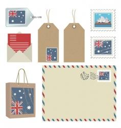 Australia postage vector