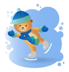 Bear at the rink vector