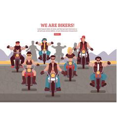 Bikers background vector