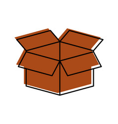 box carton isolated icon vector image vector image