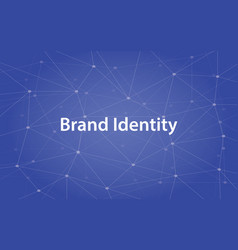 Brand identity white text with vector