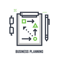business planning table vector image vector image