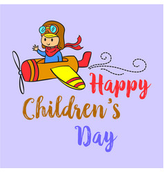 cartoon style childrens day collection vector image