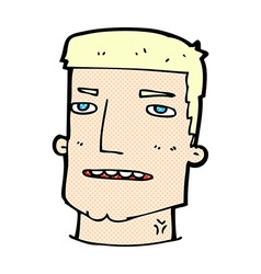 Comic cartoon male head vector