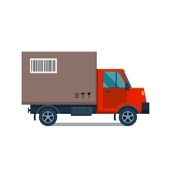 Delivery transport cargo truck vector image vector image