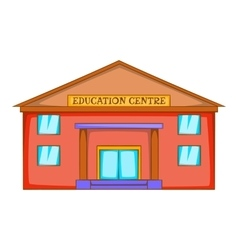 Education centre building icon cartoon style vector image