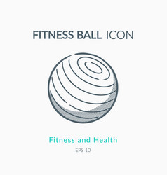 Fitness ball icon on white background vector