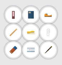 Flat icon equipment set of sticky rubber vector