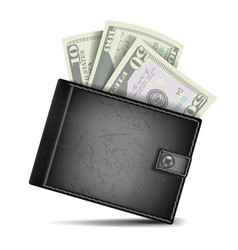 full wallet black color classic modern vector image