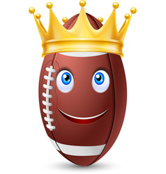 Golden crown on ball rugby vector