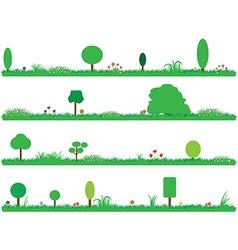 Green gardens vector image vector image