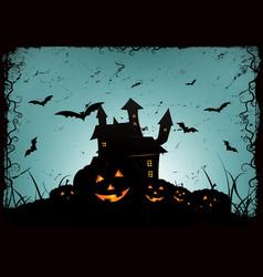 halloween frame background vector image