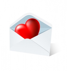 heart mail vector image vector image
