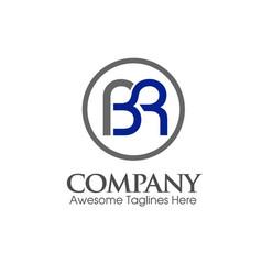 Modern bl lb letter logo vector