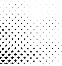 Monochrome star pattern - background vector