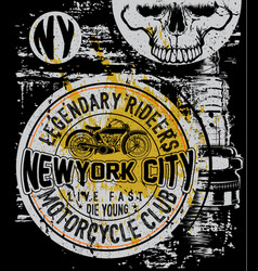 Motorcycle company typography t-shirt graphics vector