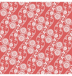 seamless background floral vector image vector image