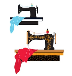 Sewing machine silhouette vector