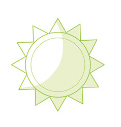 Silhouette shine sun to spring to natural weather vector