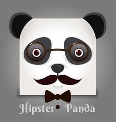 simple sign a panda - design template on black vector image