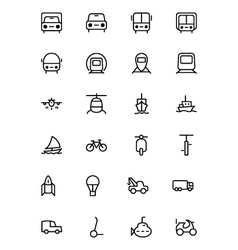 Transport Line Icons 1 vector image vector image
