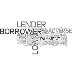 What to do about adverse credit loans text word vector